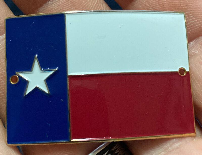 Texas Flag Walking Hiking Medallion NEW staff