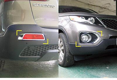 New Chrome Fog Lamp Cover Molding Advanced 6pcs K029 for Kia Sorento 2010-2012