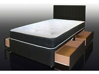 FAST / DELIVERY - ON - BRAND NEW - LUXURY Divan BEDS + Comfy MATTRESS + SAME DAY Quick Delivery