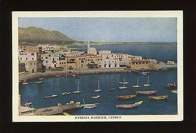 Cyprus KYRENIA Harbour Unposted  H.C. Pandelides c1950/60s? PPC