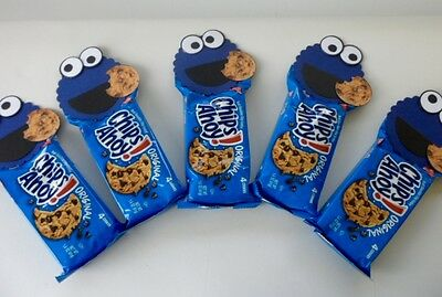Cookie Monster Party Favors/  birthday party/ baby shower  SET OF - Monster Baby Shower