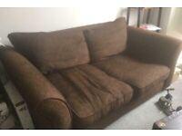 2 Seater Brown Sofa