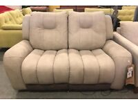 Suede electric recliner 2 seater sofa