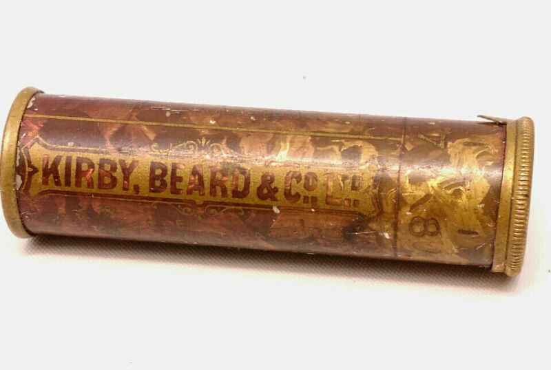 VTG. KIRBY BEARD & CO. ENGLISH SEWING NEEDLE CASE W/NEEDLES LONDON & REDDITCH
