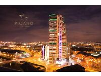 bridgewater place leeds LARGE penthouse 3 bed 3 bath 2 PARKING avail october 15 view over Leeds