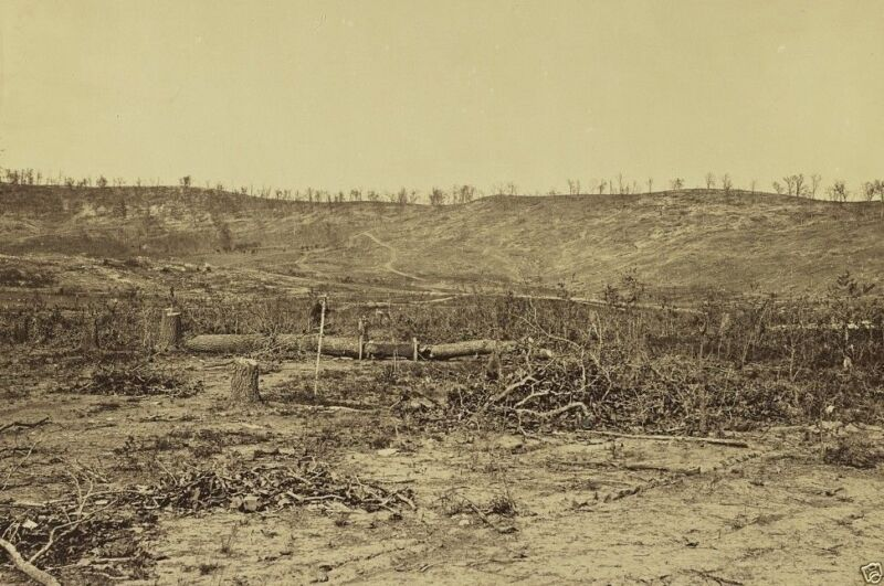 Missionary Ridge Battlefield Chattanooga Tennessee 1865 8x10 US Civil War Photo