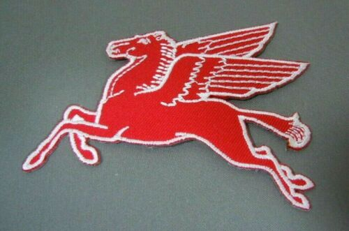 "MOBIL PEGASUS Embroidered Iron-On Uniform-Jacket Patch 3.5"" LF"