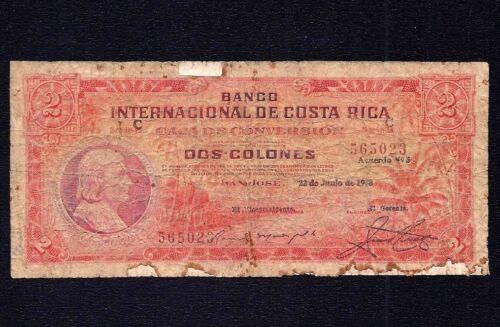 Costa Rica 2  Colones 1938  P-195b