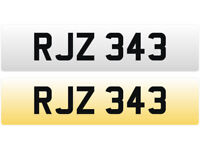 RJZ 343 – Price Includes DVLA Fees – Cherished Personal Private Registration Number Plate