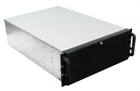 """New - 19'' rackmount server PC case 10x 3.5"""", 3x 5.25"""", including 2 spare anti-vibration drive cages"""