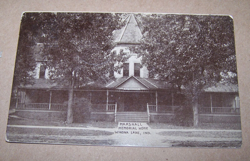 Marshall Memorial Home WINONA LAKE INDIANA Postcard