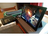 Microsoft Surface Pro (1514) High Performance Tablet Quad i5 (3317u)-4gb ram-128gb hd-KB-Case+Extras