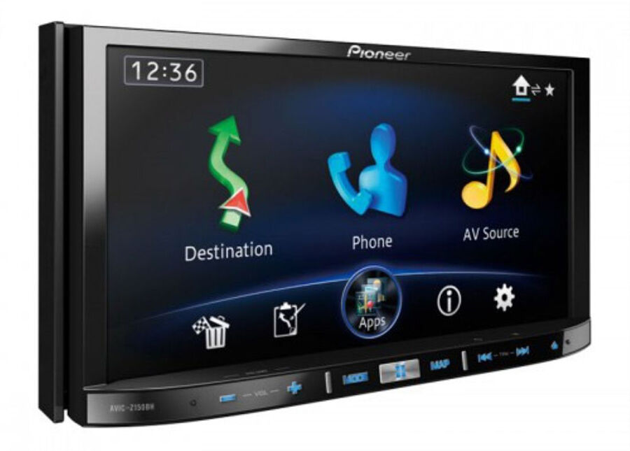 Pioneer AVIC-F50BT Car CD, DVD, GPS Navigation System with Bluetooth