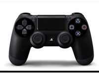 PS4 black wireless controller