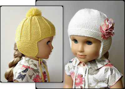 - Knitting Pattern - Marigold Ear Flap Hat For American Girl Doll 18