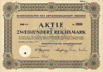 Kunstanstalten May AG 1942 Dresden Sachsen Fürth Aschaffenburg Unterfranken 200
