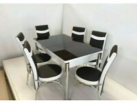 💯💯SUMMER DEAL !! BRAND NEW TURKISH EXTANDABLE DINING TABLE 4/6 CHAIRS OPTIONS