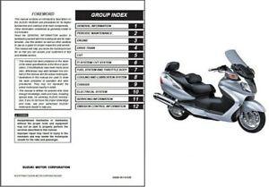 2003-2015 Suzuki Burgman AN650 / AN650A Executive Service Manual on a CD
