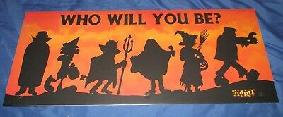 SPIRIT HALLOWEEN Store Exclusive Display Sign WITCH / FRANKENSTEIN / DRACULA](Halloween Store Displays)