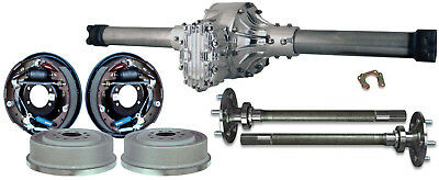WINTERS STREET ROD QUICKCHANGE V8 REAR END W/ CURRIE DRUM BRAKES & AXLES,58""