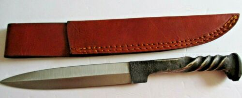 """BLACKSMITH FORGED TWISTED RAILROAD BAYONET 12"""" OVERALL ,..MOUNTAIN MAN"""