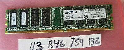 512MB PC RAM DDR1 400 PC3200 DDR 400 184PIN NON-ECC  SINGLE RANK 1RX8 32X8 UBDIM for sale  Shipping to India