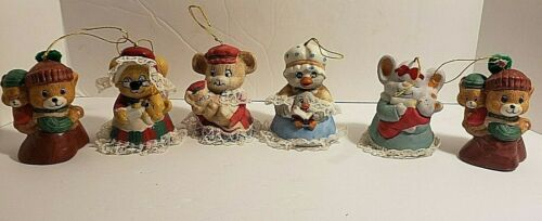 Lot of 6 Caring Critters Porcelain Chimers Mothers and Babies