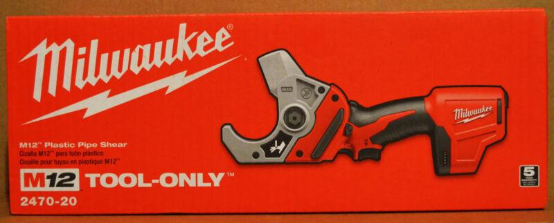 Brand New Milwaukee 2470-20 M12 12V Li-Ion Cordless VSR PVC Pipe Shear Cutter