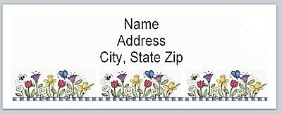Personalized Address Labels Primitive Country Flowers Buy3 Get1 Free Bx 504