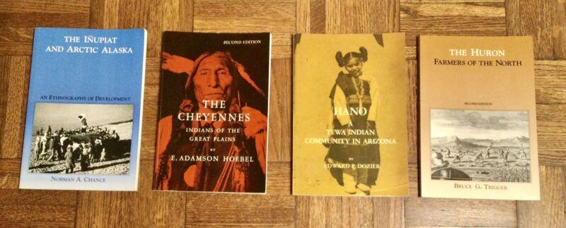 INUPIAT CHEYENNES HANO HURON INDIANS - Lot Of 4 Books PB G