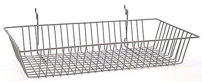 24 X 12 X 4 Baskets For Gridwallslatwallpegboard - Chrome 3pk