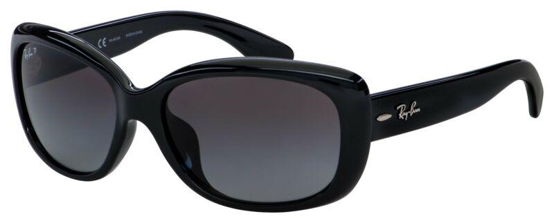 Ray Ban Jackie Ohh Sunglasses RB 4101F 601/T3 58 Black | Grey Gradient Polarized