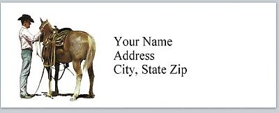 Personalized Address Labels Western Cowboy Horse Buy 3 Get 1 Free P 94