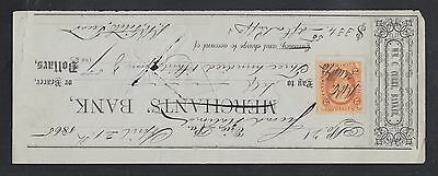 Usa 1880S 90S Four Cancelled Cheques Merchants Bank First National Bank