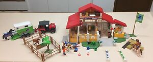 Playmobil 4190 pony farm/horse stables & 4189 horse float & trailer Medowie Port Stephens Area Preview