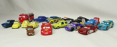 Disney Pixar Cars Diecast Lot of 16 Lightning McQueen Hudson Luigi Red Tomber