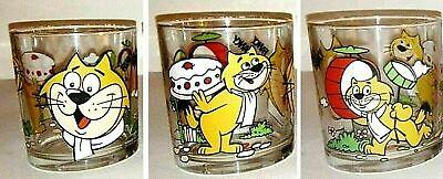 1 GLASS NUTELLA GLASSES VINTAGE 1997 HANNA e BARBERA CARTOON TOP CAT,FANCY FANCY