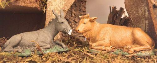 Donkey & Ox Nativity Scene Landi Presepio Animals Burro y Buey Figuras Pesebre