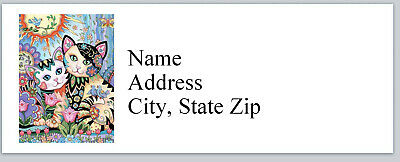 Personalized Address Labels Abstract Cats Kittens Buy 3 Get 1 Free P 633