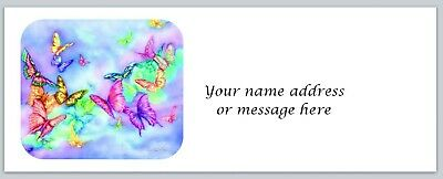 Personalized Address Labels Colorful Butterflies Buy 3 Get 1 Free Bo 836