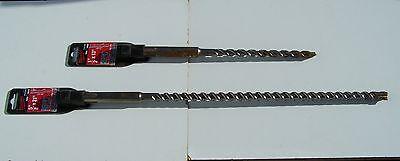 2 Milwaukee Sds Max Hammer Drill Bit 48-20-3918 48-20-3902 58 X 21 12 X 13