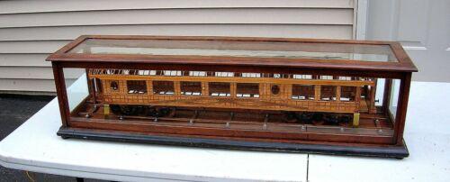 19TH C. PANTENT MODEL RAILROAD CAR BY WAGNER PALACE CAR CO. BUFFALO, NY - NICE!!