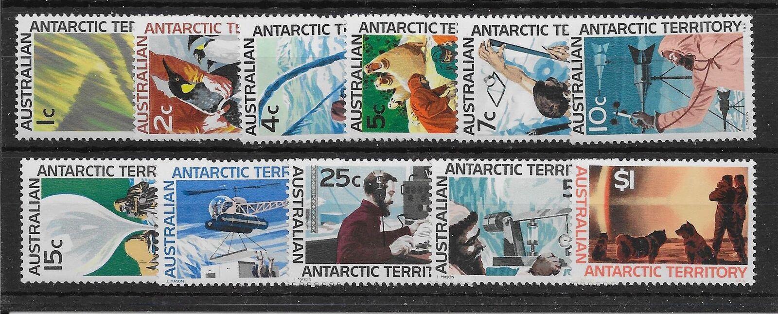 AUSTRALIAN ANTARCTIC TERR SG8/18 1966-8 DEFINITIVE SET MNH
