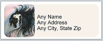 30 Personalized Address Labels Horse Buy 3 get 1 free (ac 667)