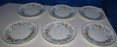 6 Wedgwood Mist Rose Bread and Butter Plates