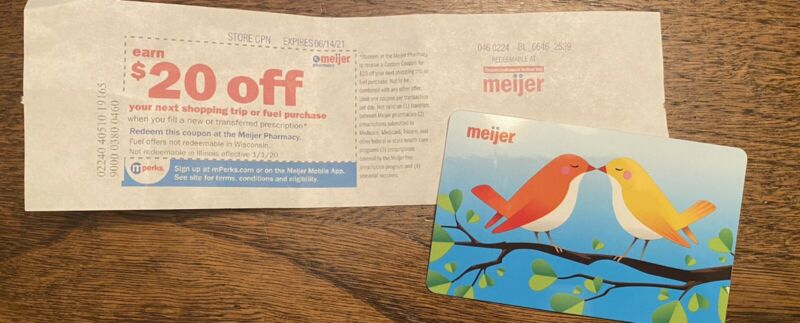 Save $20 Meijer Pharmacy Coupon w New or Transferred Prescription Exp 6/14/2021