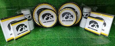 University Of Iowa Party (IOWA HAWKEYES PARTY KIT - UNIVERSITY OF IOWA - PLATES, CUPS,)