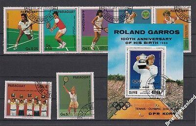 Tennis Steffi Graf , Boris Becker ,  etc . schöne Collection Marken + Blocks