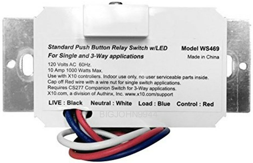 как выглядит Модуль для домашней автоматики X10 WS469 Non-Dimming Pushbutton Relay Switch For Non-Incandescent Loads фото