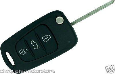 Hyundai I30 3 Button Key Fob Remote Case Shell with KI-7 Blade repair